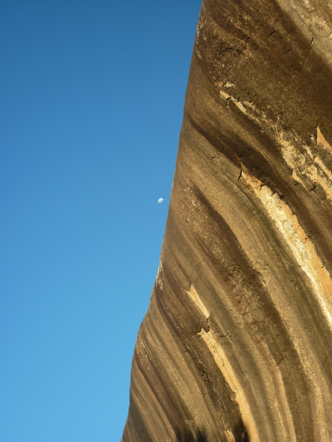 Wave Rock with the Moon
